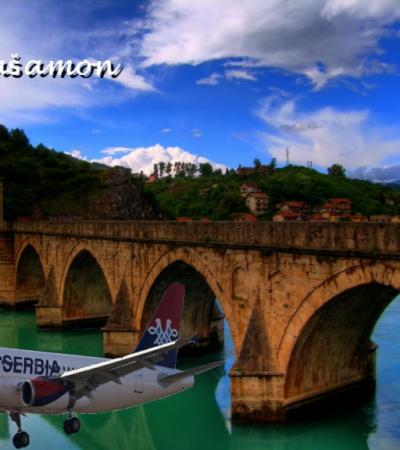 Samo jednom se Rodoljubac spušta u niskom letu ispod Ćuprije na Drini