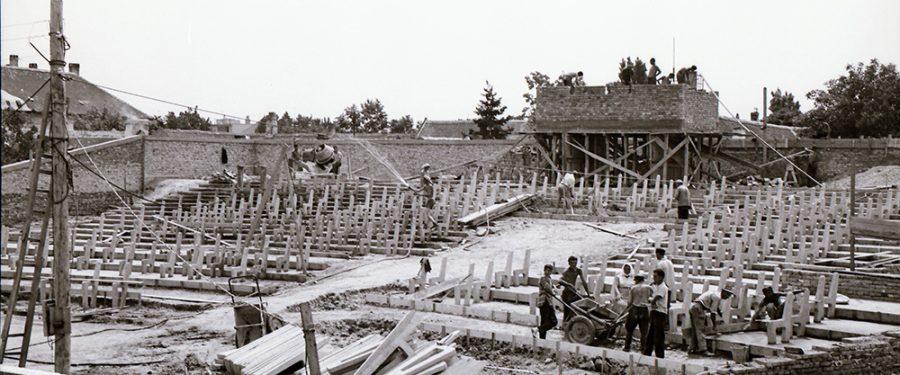 Izgradnja letnje pozornice u leto 1962