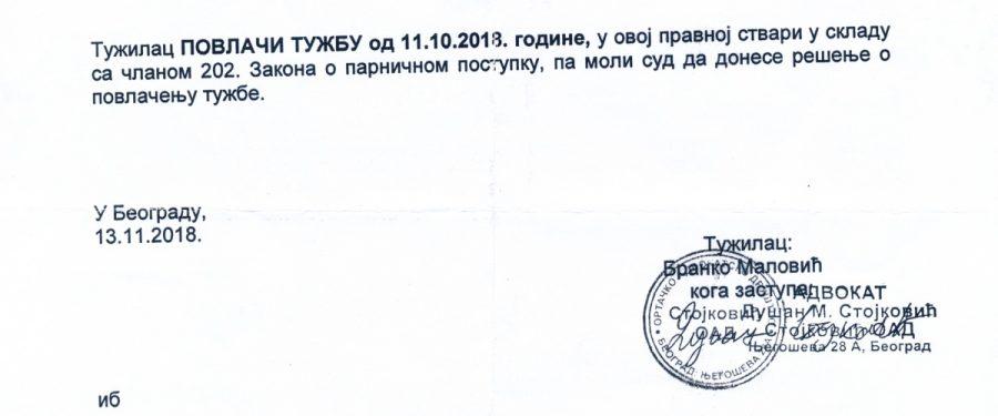 Koordinator SNS-a Malović povukao tužbu protiv našeg novinara Živkovića