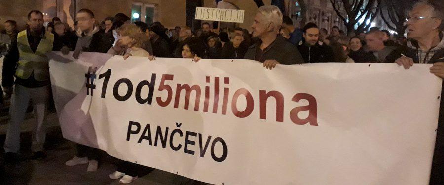 Osmi pančevački protest: neljudima nema mesta u politici