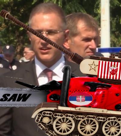 Nešto što podseća na masakr motornom maketom ili Izašao Majmun iz tenka