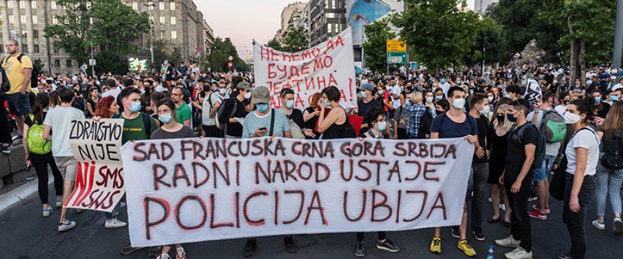 Protest u BG 10. 7. 2020.