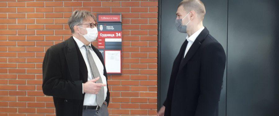 Tuženi se nisu pojavili pred sudom, saslušan samo Živković