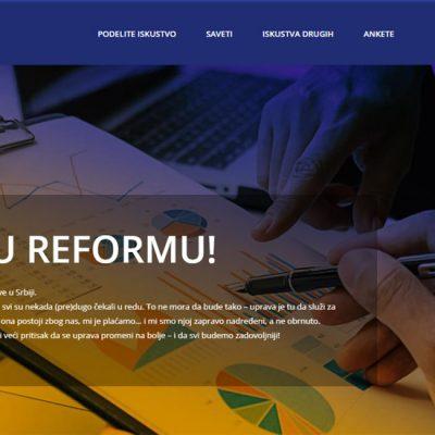 Pratimo reformu da bismo unapredili javne usluge